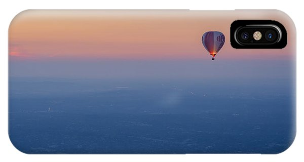IPhone Case featuring the photograph Ballooning In The Haze by Ray Warren