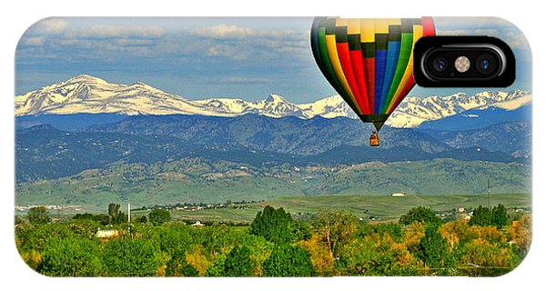 Ballooning Over The Rockies IPhone Case