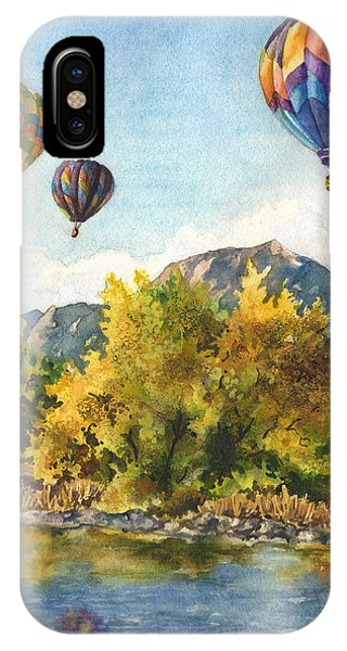 Hot Air Balloons iPhone Case - Balloons At Twin Lakes by Anne Gifford
