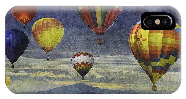 Balloons Over Sister Mountains IPhone Case