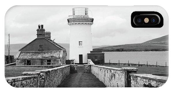Ballyglass Lighthouse Mono IPhone Case