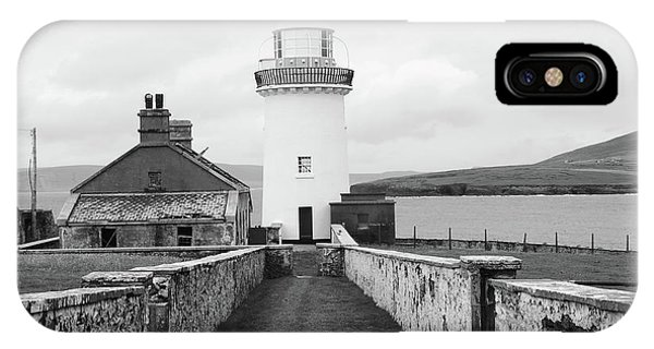 Ballyglass Lighthouse Mono IPhone Case