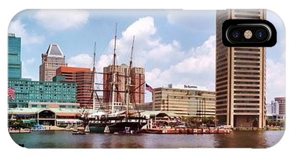 Baltimore Harbor Panorama IPhone Case