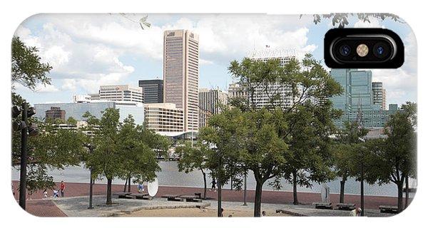 iPhone Case - Baltimore Inner Harbor Play Area by William Kuta