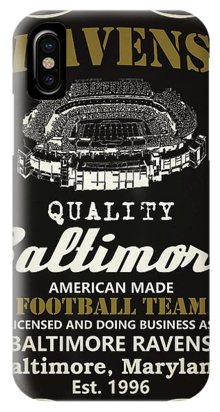 Tickets iPhone Case - Baltimore Ravens Whiskey by Joe Hamilton