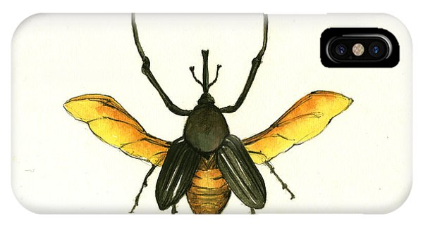 Insects iPhone Case - Bamboo Beetle by Juan Bosco