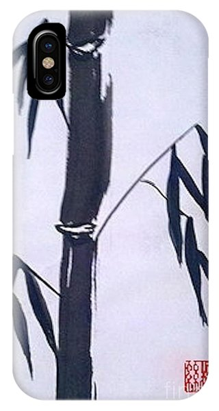 Bamboo In Black And White IPhone Case
