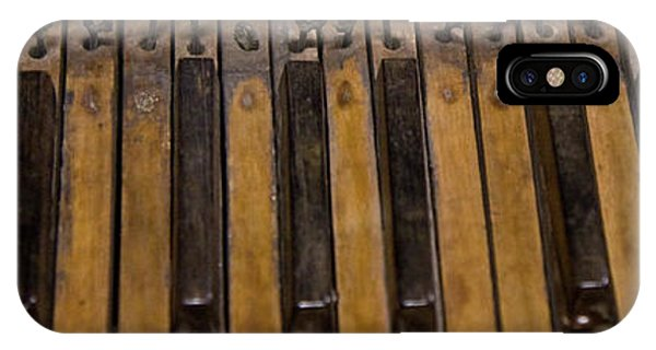 Organ iPhone Case - Bamboo Organ Keys by Betsy Knapp