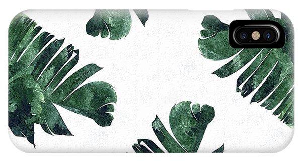 Banana iPhone Case - Banan Leaf Watercolor by Uma Gokhale
