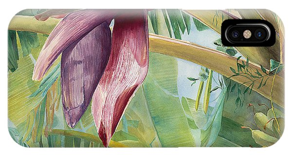 Banana Flower IPhone Case