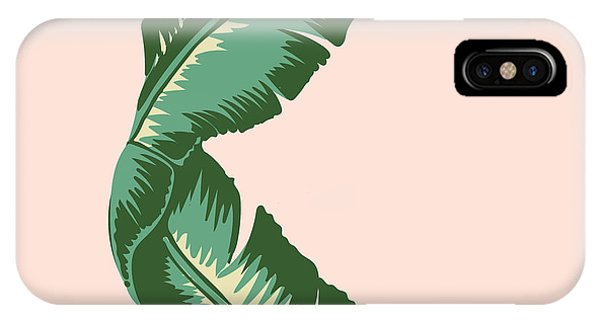 Life iPhone Case - Banana Leaf Square Print by Lauren Amelia Hughes