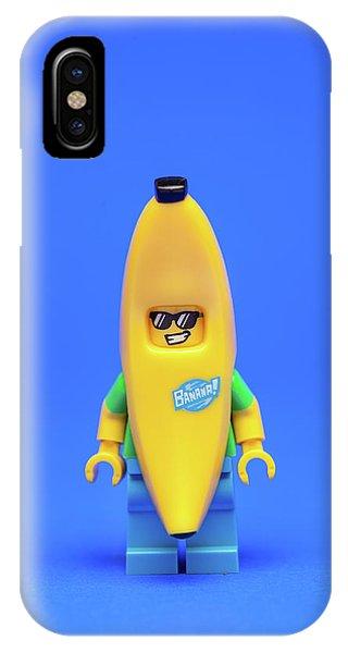 Banana iPhone Case - Banana Man by Samuel Whitton