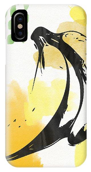 Orange iPhone Case - Bananas- Art By Linda Woods by Linda Woods