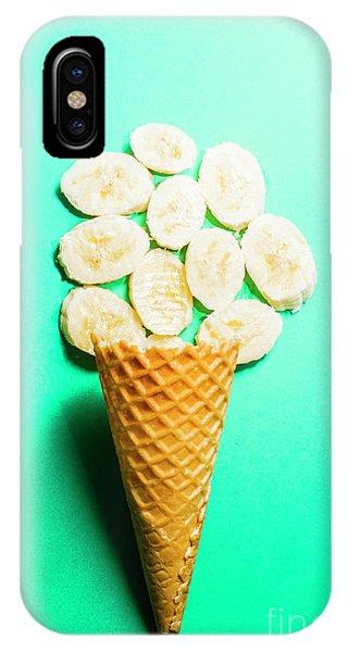 Humor iPhone Case - Bananas Over Sorbet by Jorgo Photography - Wall Art Gallery