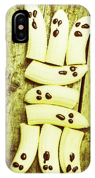 Banana iPhone Case - Bananas With Painted Chocolate Faces by Jorgo Photography - Wall Art Gallery