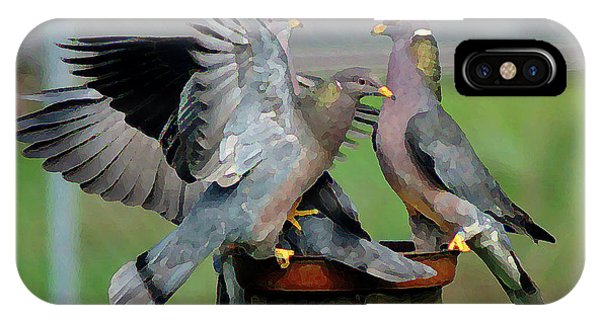 Band-tailed Pigeons #1 IPhone Case