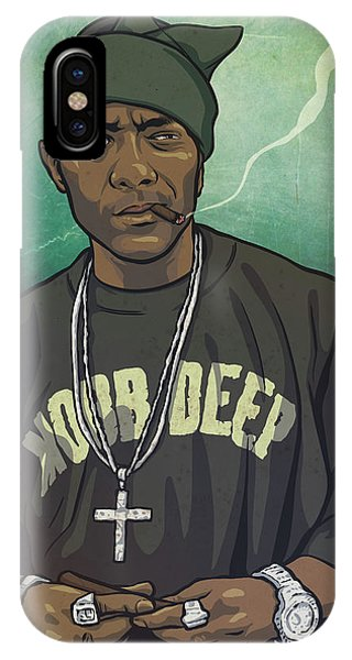 Legends Music iPhone Case - Bandana P by Miggs The Artist
