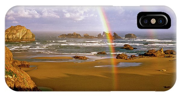 Bandon Beach Rainbow Sunrise IPhone Case