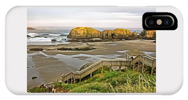 Bandon Beach Stairway IPhone Case