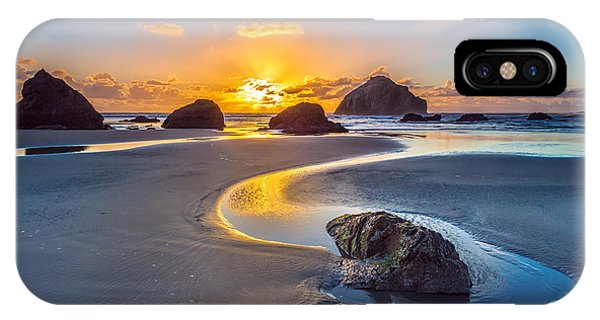 Oregon Sand Dunes iPhone Case - Bandon Face Rock by Robert Bynum