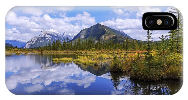 Pond iPhone Case - Banff Reflection by Chad Dutson