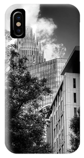 Bank Of America Of Charlotte In Black And White IPhone Case