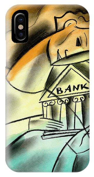 Debts iPhone Case - Banking by Leon Zernitsky