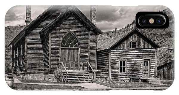 IPhone Case featuring the photograph Bannack Church by Scott Read