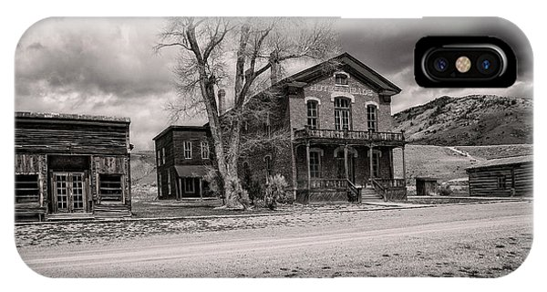 IPhone Case featuring the photograph Bannack Montana Ghost Town by Scott Read