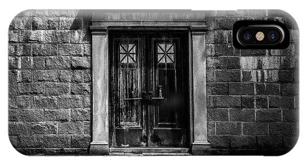 Angle iPhone X Case - Bar Across The Door by Bob Orsillo