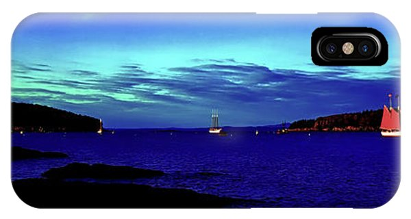 IPhone Case featuring the photograph Bar Harbor, Maine Sunset Cruse  by Tom Jelen
