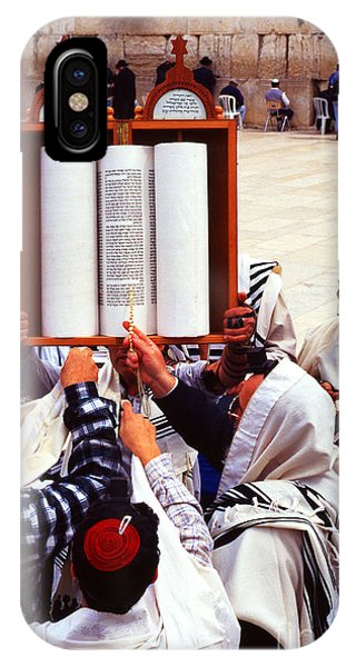 Bar Mitzvah iPhone Case - Bar Mitzvah At The Western Wall  Jerusalem by Thomas R Fletcher