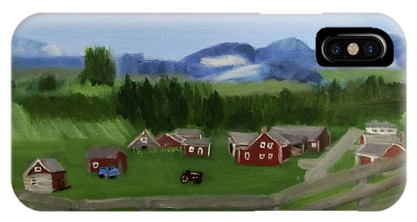 IPhone Case featuring the painting Bar U Ranch by Linda Feinberg
