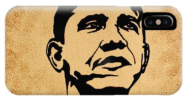 Barack Obama Original Coffee Painting IPhone Case