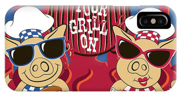 Barbecue Pigs IPhone Case