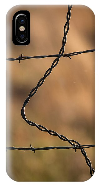 Barbed And Bent Fence IPhone Case