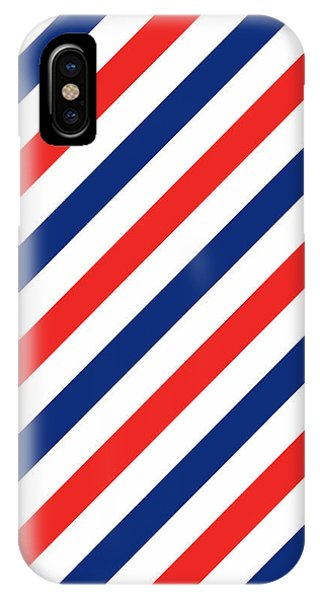 Patriotic iPhone Case - Barber Stripes by Julia Jasiczak