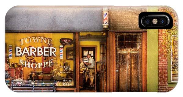 Barber - Towne Barber Shop IPhone Case