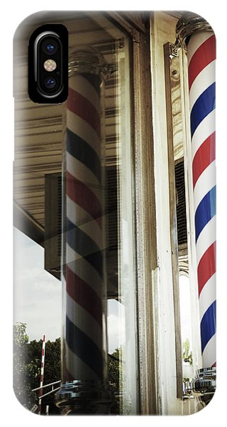 Barbershop Pole IPhone Case