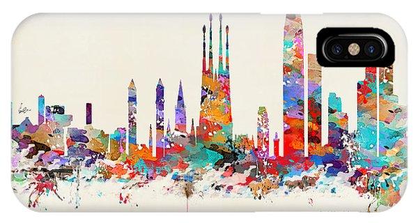Spain iPhone Case - Barcelona City Skyline by Bri Buckley