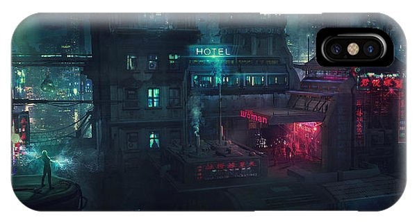 Neon iPhone Case - Barcelona Smoke And Neons Eixample by Guillem H Pongiluppi