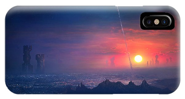 Neon iPhone Case - Barcelona Smoke And Neons Montserrat by Guillem H Pongiluppi