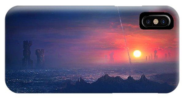 Barcelona iPhone Case - Barcelona Smoke And Neons Montserrat by Guillem H Pongiluppi