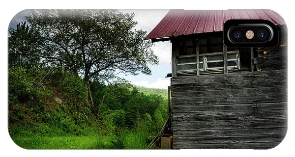 IPhone Case featuring the photograph Barn After Rain by Greg Mimbs