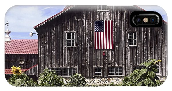 Barn And American Flag IPhone Case