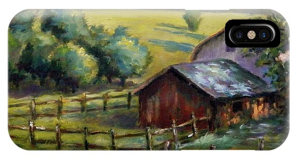 Barn And Field IPhone Case