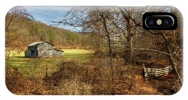 Barn And Stream IPhone Case