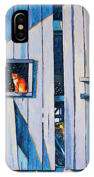 Barn Cat IPhone Case
