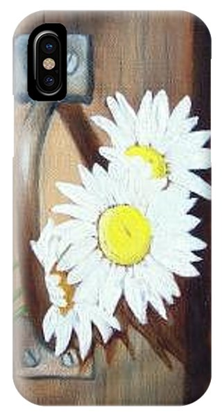 IPhone Case featuring the painting Barn Door Daisies Sold by Susan Dehlinger