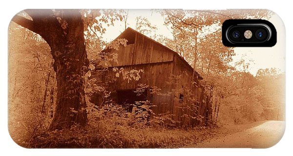 Barn Hocking Co Ohio Sepia IPhone Case
